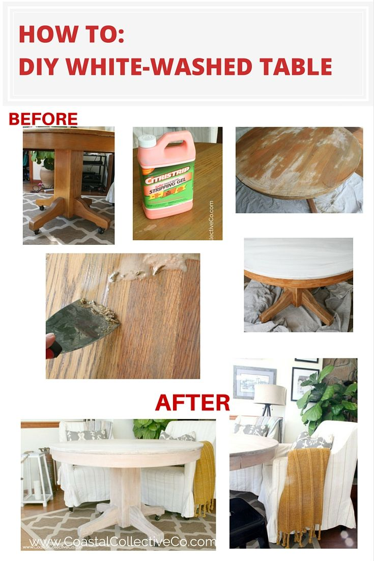 DIY Whitewashed Table: Before and After — Coastal Collective Co.