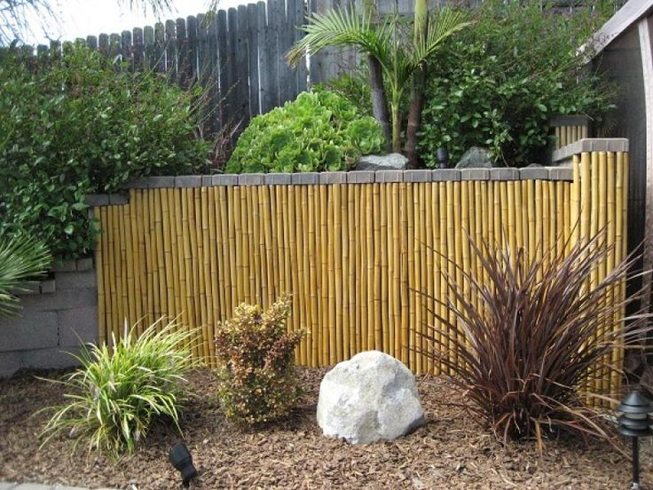 #Bamboo Fence Panels Are Easy To Install And Can Be Used To Visually Divide  Your