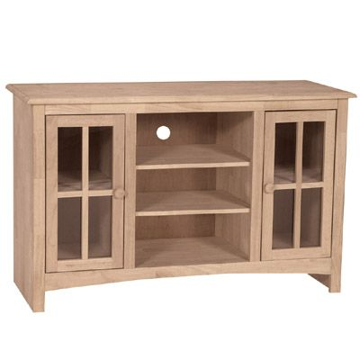 Family Room - Entertainment Centers - TV Stand. Stand UnfinishedUnfinished  FurnitureOffering ...