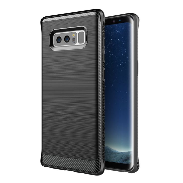 Carbon Fiber Texture Brushed Finish Anti Fingerprint Soft TPU Case For Samsung Galaxy Note 8