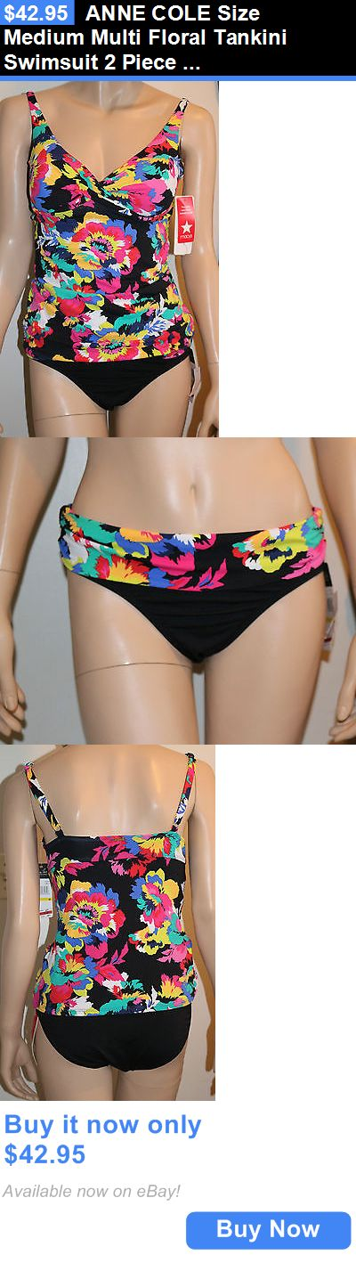 Women Swimwear: Anne Cole Size Medium Multi Floral Tankini Swimsuit 2 Piece Set New BUY IT NOW ONLY: $42.95
