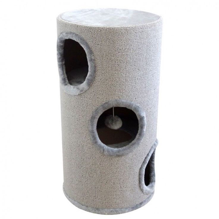 Cat Scratching Tower Cathouse Home Ball Toy Relaxing Areas Playground Grey Tree #CatScratchingTower