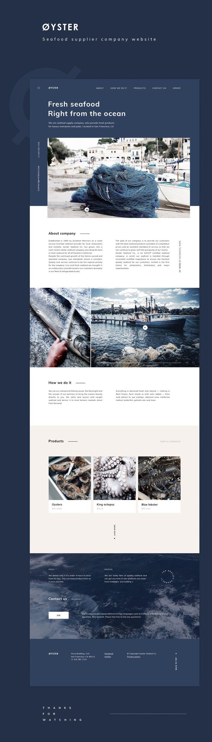 Web design examples – sea, neutrals, navy blue, aqua
