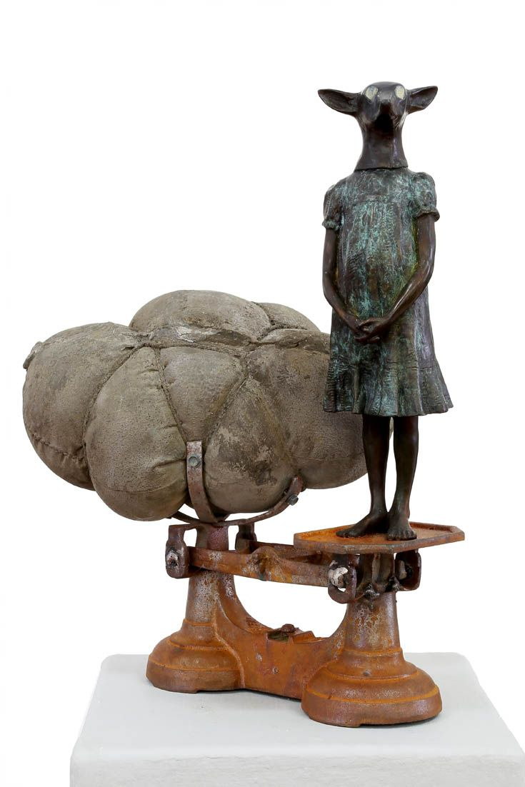 An original sculpture by Elizabeth Balcomb entitled: Therianthrope, bronze ed of 15, 46cm x 35cm #sculpture #bronze #ElizabethBalcomb #SouthAfricanArtist #SouthAfricanArt #Therianthrope For more please visit www.finearts.co.za