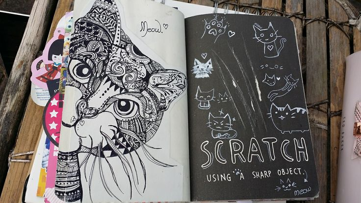 http://luuloolaa.tumblr.com/  My wreck this journal is truly adorable I love it so much~ My scratch page is one of my favorites <3