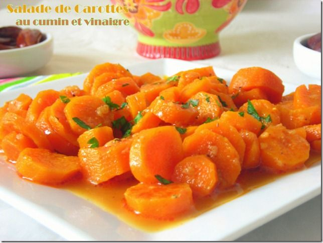 Algerian Carrot Salad with Cumin and Caraway / Salade de carottes a l'algerienne parfumée au cumin et carvi