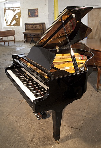 A Young Chang G157 baby grand piano for sale with a black case and polyester finish at Besbrode Pianos £2995. Length: 157cm. http://www.besbrodepianos.com/piano-sale/young-chang-G157-grand-piano-black.htm