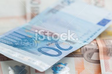 European currency, Banknotes Twenty and Fifty Royalty Free Stock Photo