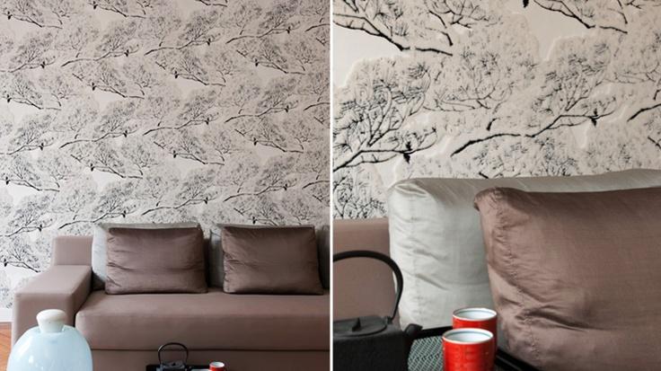 ELITIS papiers-peints, tissus, mobilier / Cherry tree wallcovering-Suite