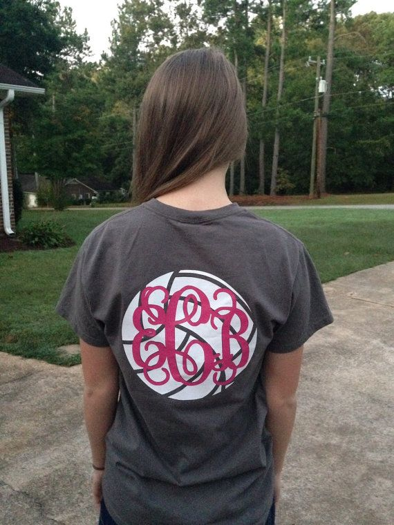 Monogram Volleyball T-shirt by SouthernToATee on Etsy