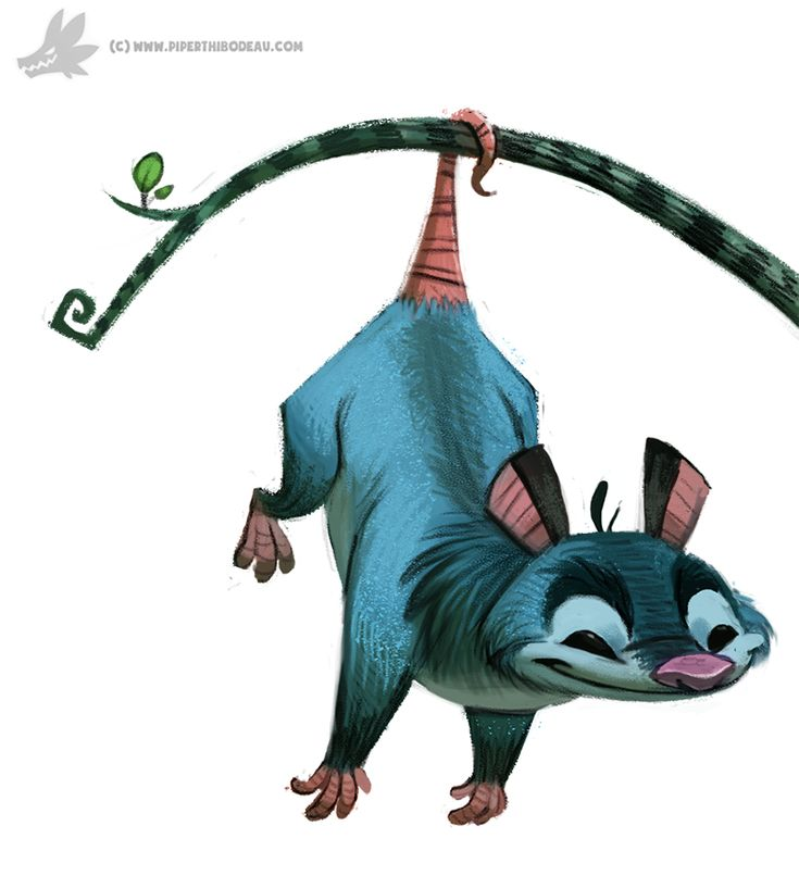 Daily Painting 774. Opossum by Cryptid-Creations on DeviantArt