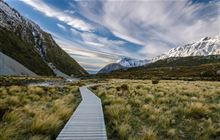 Looking back toward Mount Cook Village on the Hooker Valley Track. Image: Crystal Brindle ©