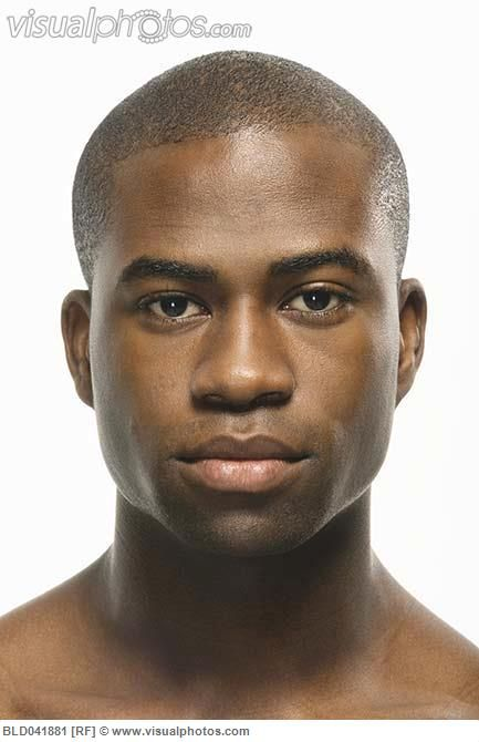 Close Up Of African American Man S Face African American
