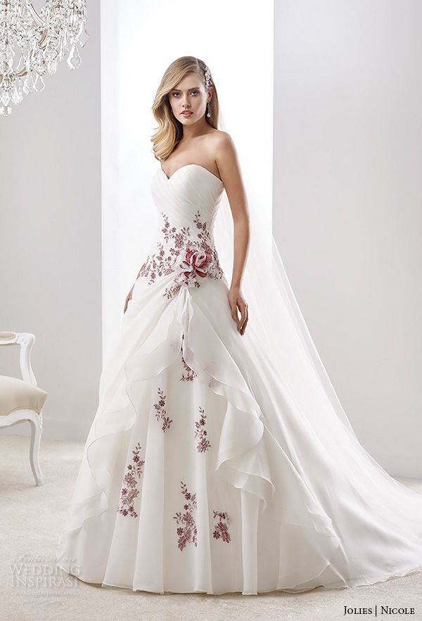 17 Best ideas about Wedding Dresses With Color on Pinterest ...