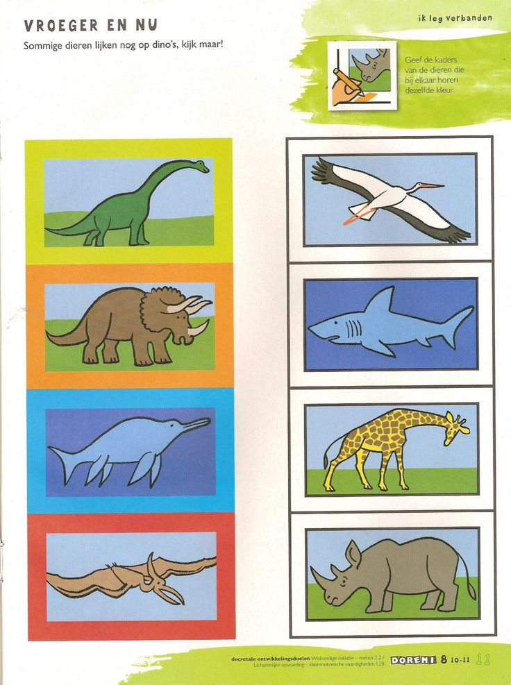 "Dinosaurs - ""what is similar?"" preschool activity"