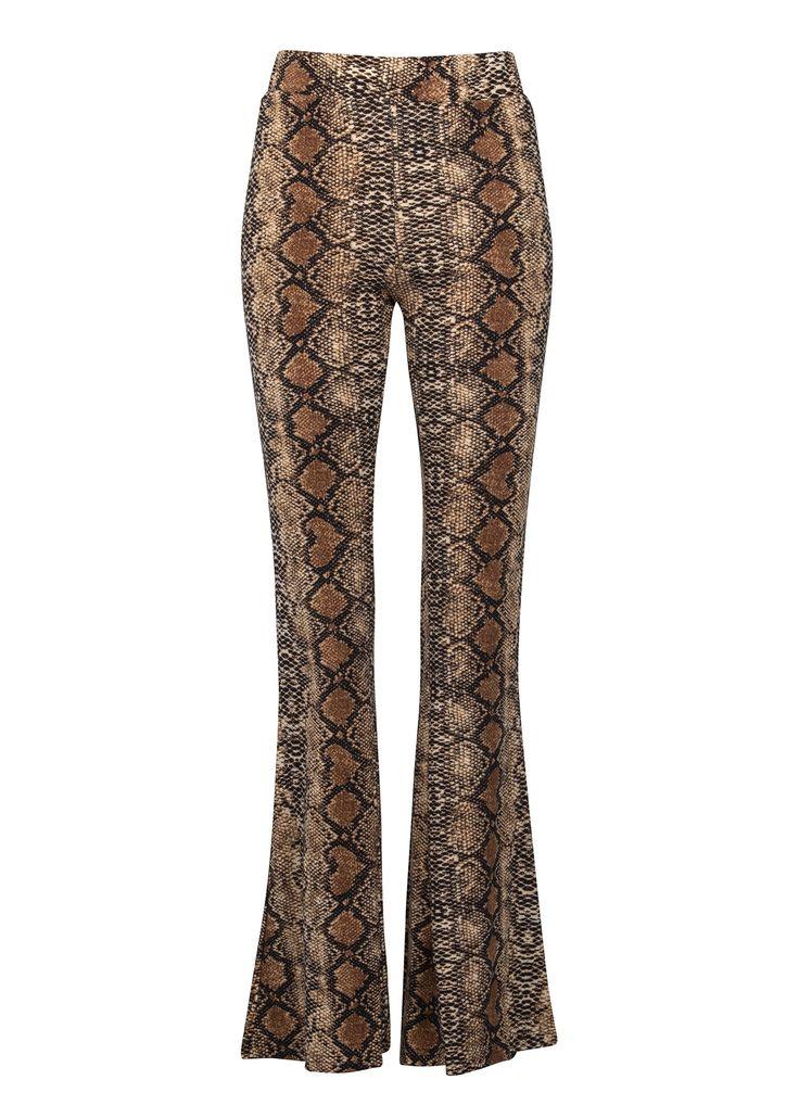 Vintage Flare Pants Rock and Roll  Animal Print