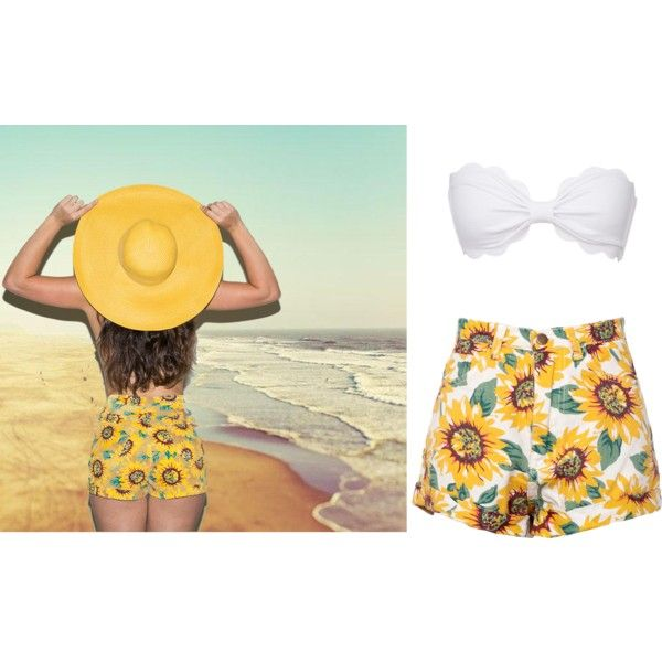 flowers 20ge by solenn-ntli on Polyvore featuring mode and Marysia Swim