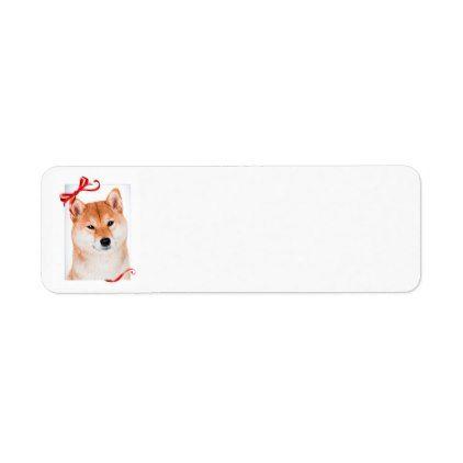 Shiba Inu Return Address Labels - return address labels label diy personalize cyo unique design custom