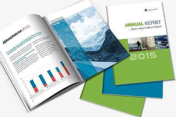 Annual Report Indesign Template By Creative Template On Creative