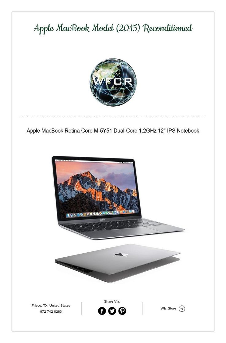 Apple MacBook Model (2015) Reconditioned