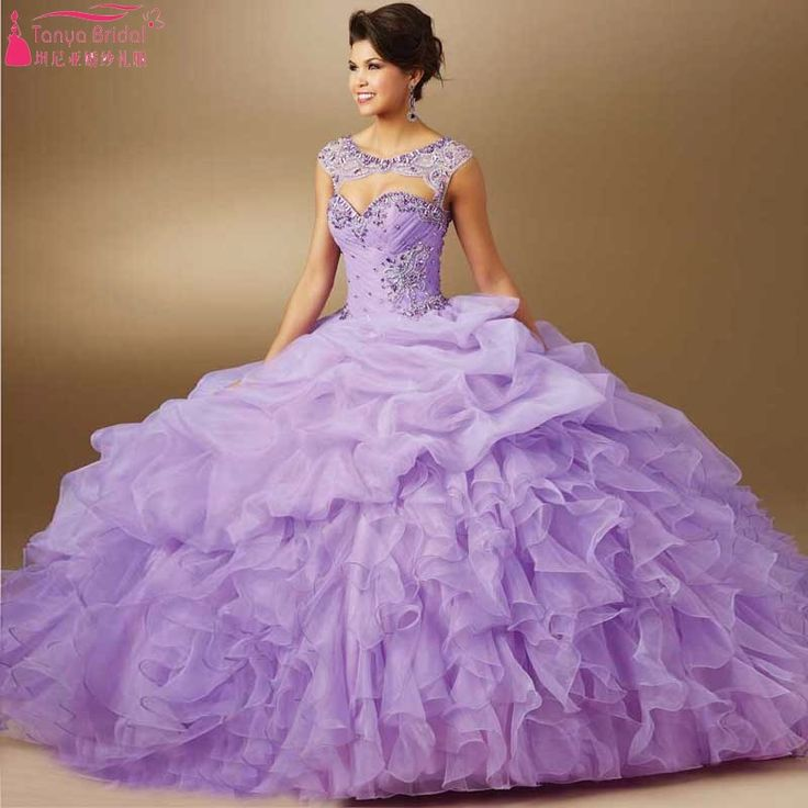 Find More Quinceanera Dresses Information about Detachable Strap Beaded Ruffle Organza Lilac Light Purple Quinceanera Dresses 2016 Vestido De 15 Anos Pageant Dress,High Quality dresses japan,China dress right dress Suppliers, Cheap dresses forever from Tanya Bridal Store on Aliexpress.com