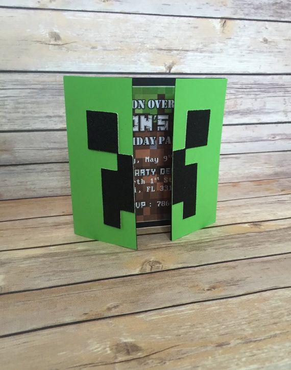 Minecraft Invitation Minecraft Invite by AGirlAndSomeSparkle