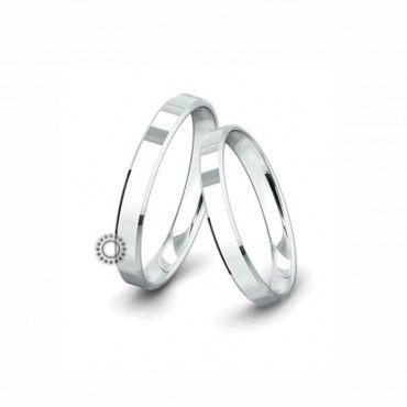 Βέρες γάμου Saint Maurice Classic λευκόχρυσες πλάτους 3.5mm επίπεδες εξωτερικά & ανατομικές | Βέρες γάμου Saint Maurice ΤΣΑΛΔΑΡΗΣ στο Χαλάνδρι #SaintMaurice #βερες #γαμου #λευκοχρυσος #rings