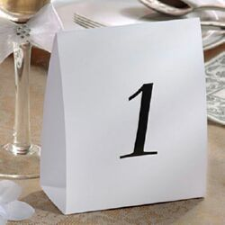 A43020 - Table number Tent - 1-12 - Pack f 12 Table Number Tent 1 - 12 (19cm High x 12cm Wide) - Pack of 12  Please note: approx.  14 day delivery
