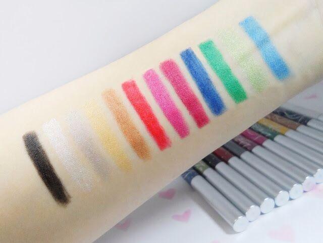 Menow 12 Colors Long-lasting Eye Shadow Eyeliner Lip Liner Pen Makeup Beauty Tool Set Kit