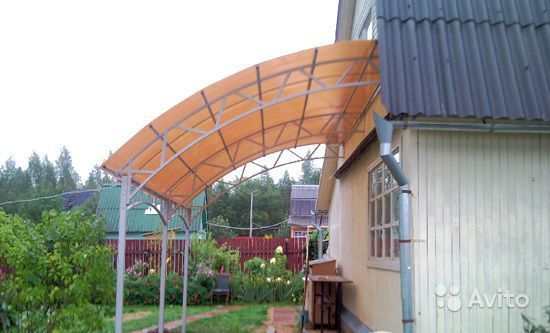 Идеи для веранд и беседок из поликарбоната на даче