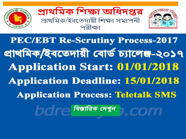 DPE/EBT Result Rescrutiny Application Process 2017 has been Published