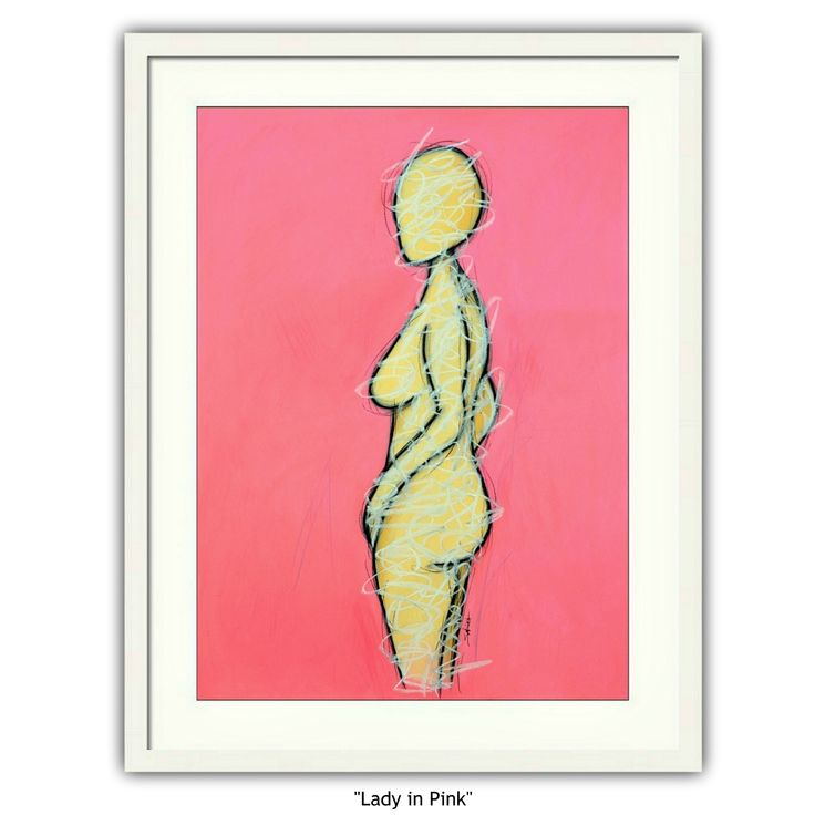 """""""""""Lady in Pink"""" (nude figurative)"""" by Sabina D'Antonio. Paintings for Sale. Bluethumb - Online Art Gallery"""