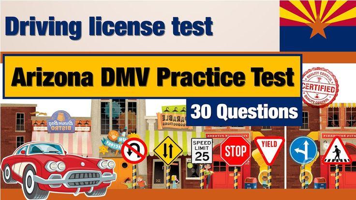 Driving licence test: Arizona DMV Practice Test (Quiz 1)