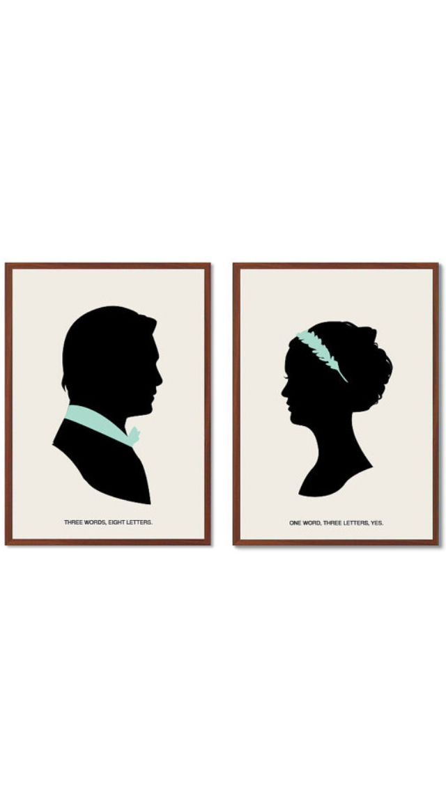 Chuck Bass and Blair Waldorf wedding canvas tiffany blue