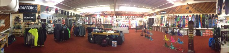 What a gorgeous, jam-packed snowboard shop we've got just ACHING for you to come it!