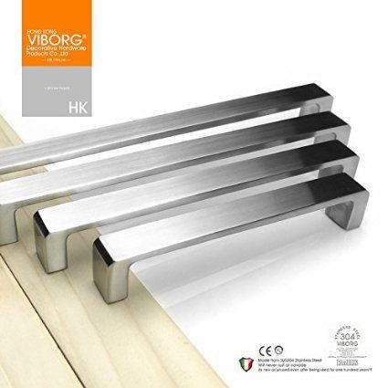 5 Pack Viborg Deluxe Top Quality Solid Sus304 Stainless Steel Casting Modern Kitchen Cupboard Handlesdrawer Handlescupboard Doorsdoor