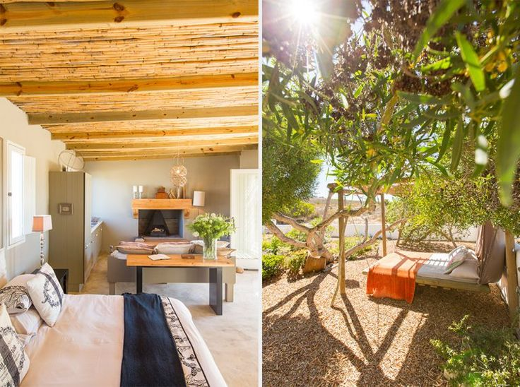 When visiting Paternoster, you wouldn't necessarily think of staying anywhere but at the beach. This spot may change your mind- it certainly did for me. The wide outside swing bed was a huge hit.