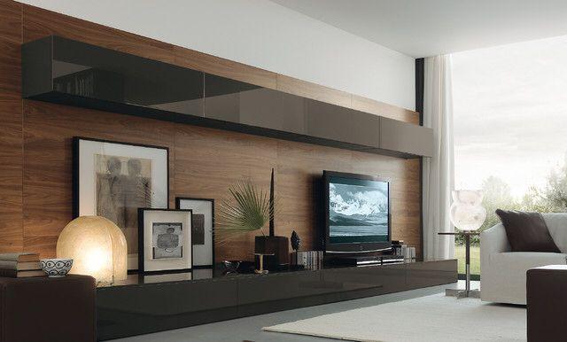 Loving this sleek wall storage unit for my tv
