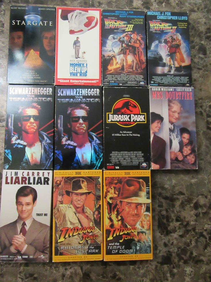 90 39 s favorites vhs tapes terminator jurassic park for Innenarchitektur rosenheim