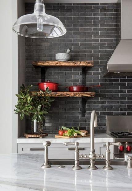 20 Ideas For Kitchen Shelves Above Sink Subway Tiles