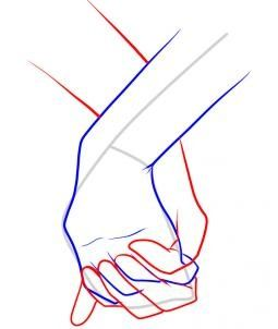 How to Draw Holding Hands, Step by Step, Hands, People, FREE Online Drawing Tutorial, Added by Dawn, January 13, 2011, 10:15:15 pm