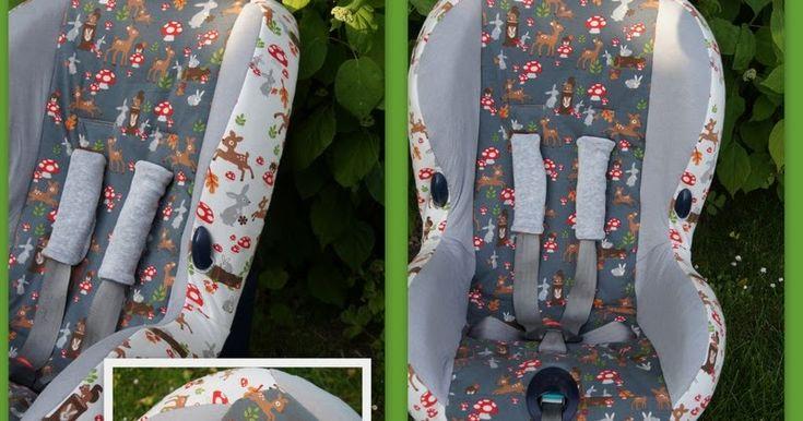 Een nieuwe bekleding gemaakt in het autostoeltje voor ons oppas neefje.  Ik heb er weken tegen aan zitten hikken maar het maken was eige...