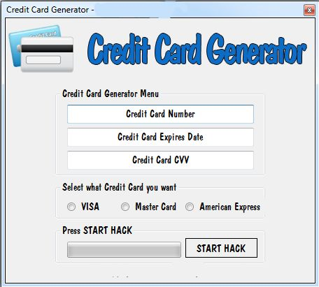 fake credit card number generator Visa card numbers