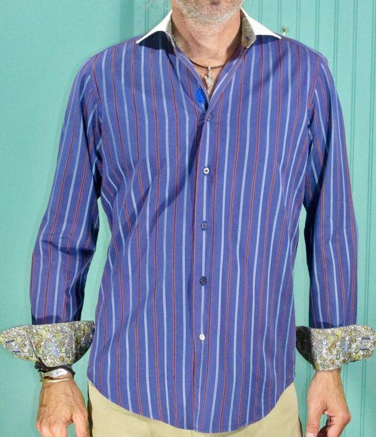 Robert Graham Sport Shirt Paisley Contrast Cuffs #RobertGraham #ButtonFront