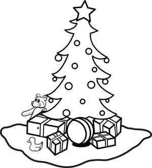 printable christmas ornaments coloring page for kids