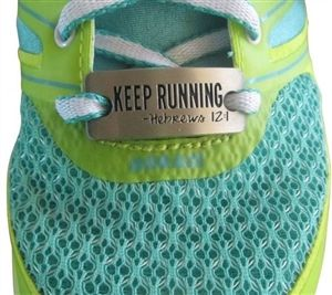 Hebrews 12:1 - shoe charm