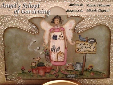 Angel's School of gardening - Valeria Gilardoni painting pattern
