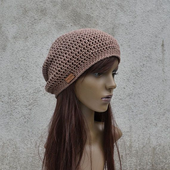 Spring / Summer Crochet Hat in Brown Cool Hat by acrazysheep