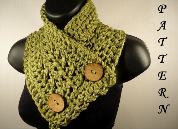 Crochet Pattern Crochet Scarf Pattern Button Cathy, make me one of these just because you love me!!!