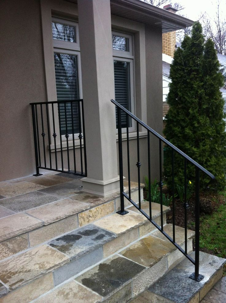 wrought iron stair railings exterior exterior railing. Black Bedroom Furniture Sets. Home Design Ideas